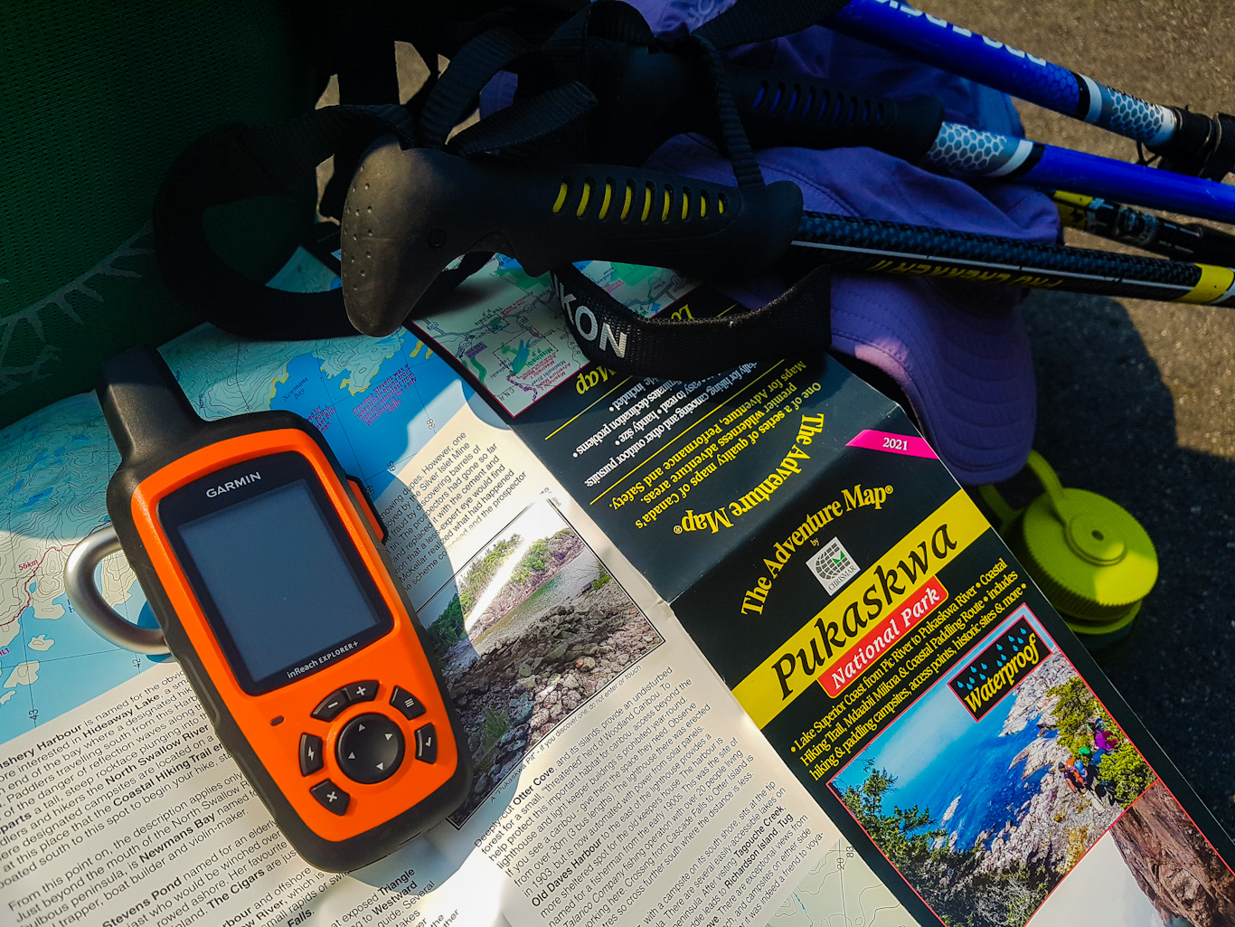 Map of Pukaskwa National Park and Garmin InReach
