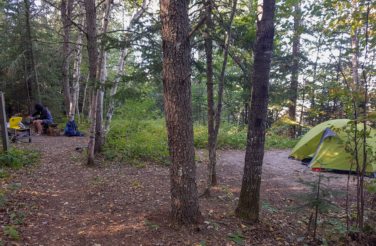 campsite at Oiseau Bay in Pukaskwa