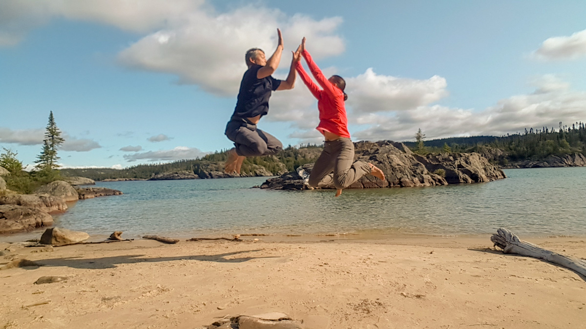 Hiking Coastal Trail at Pukaskwa: Picture Rock Harbour South