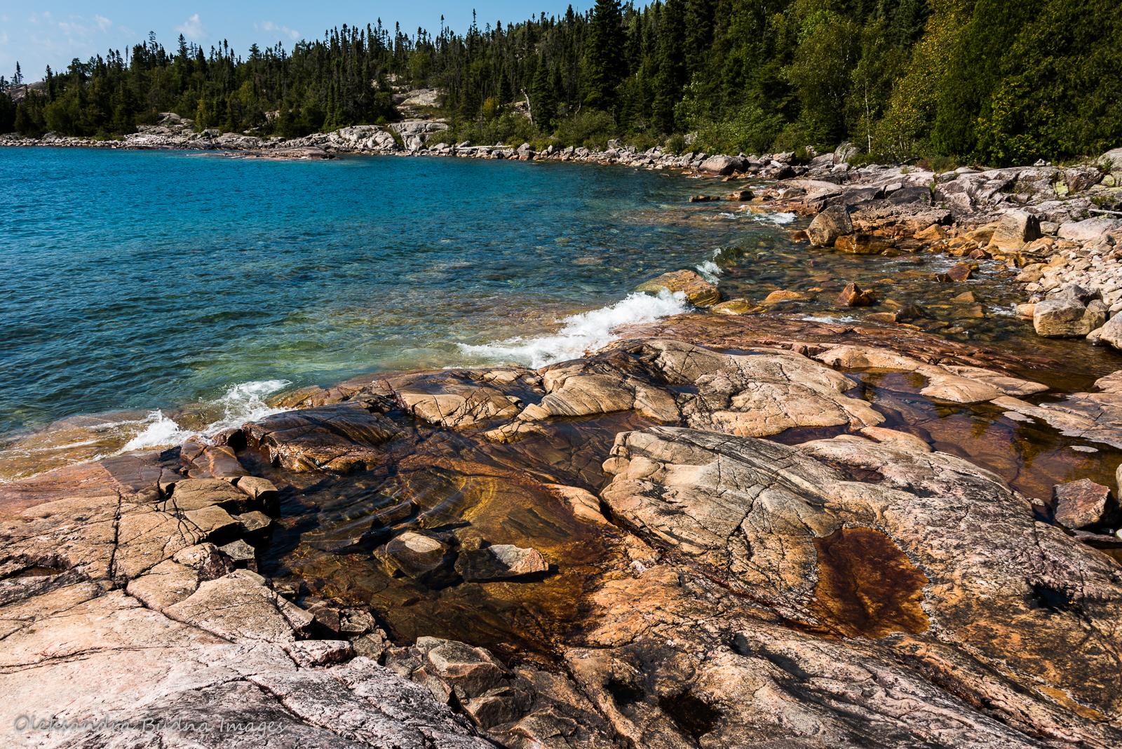 Lake Superior coast in Pukaskwa