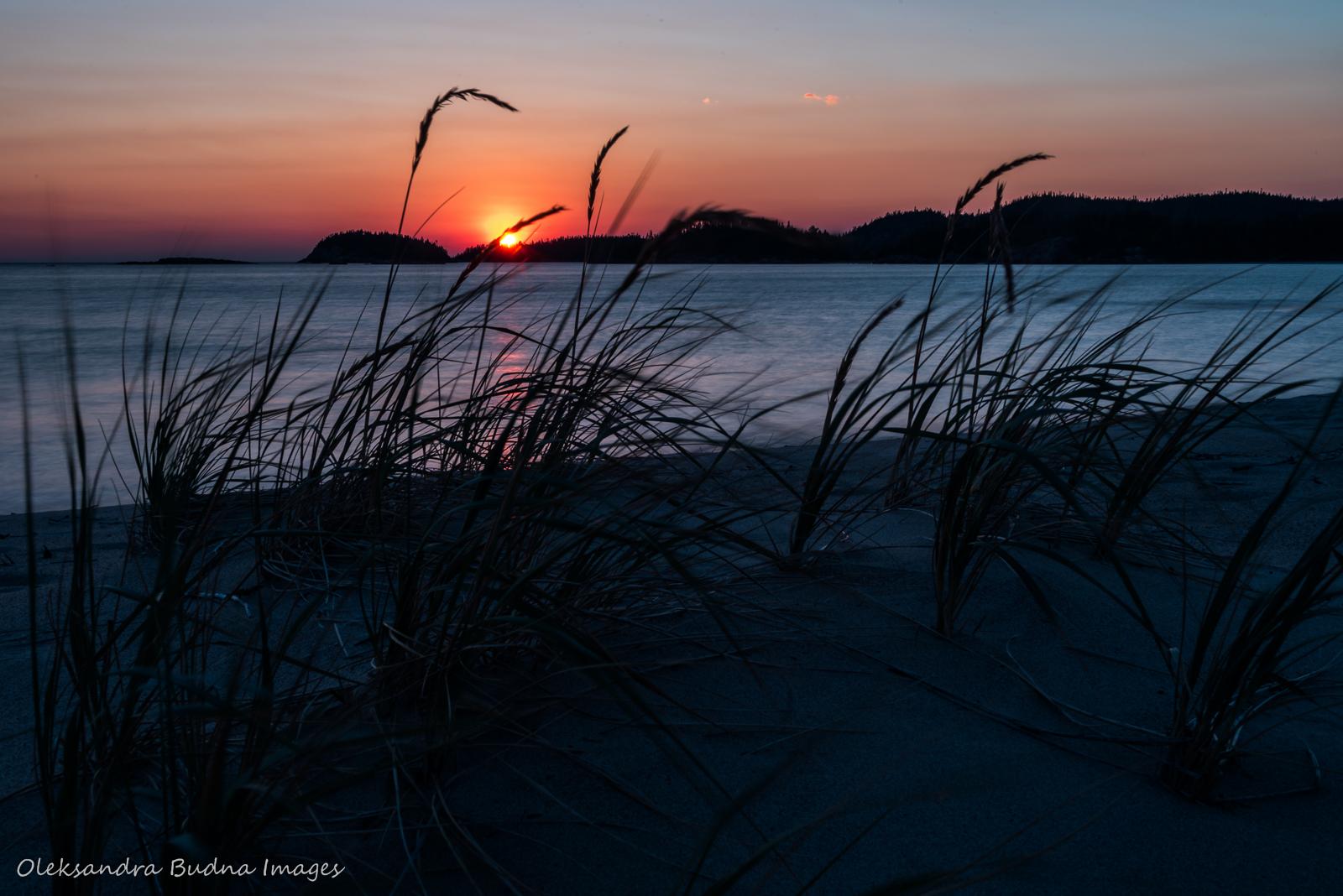 Sunset on Lake Superior at Oiseau Bay in Pukaskwa