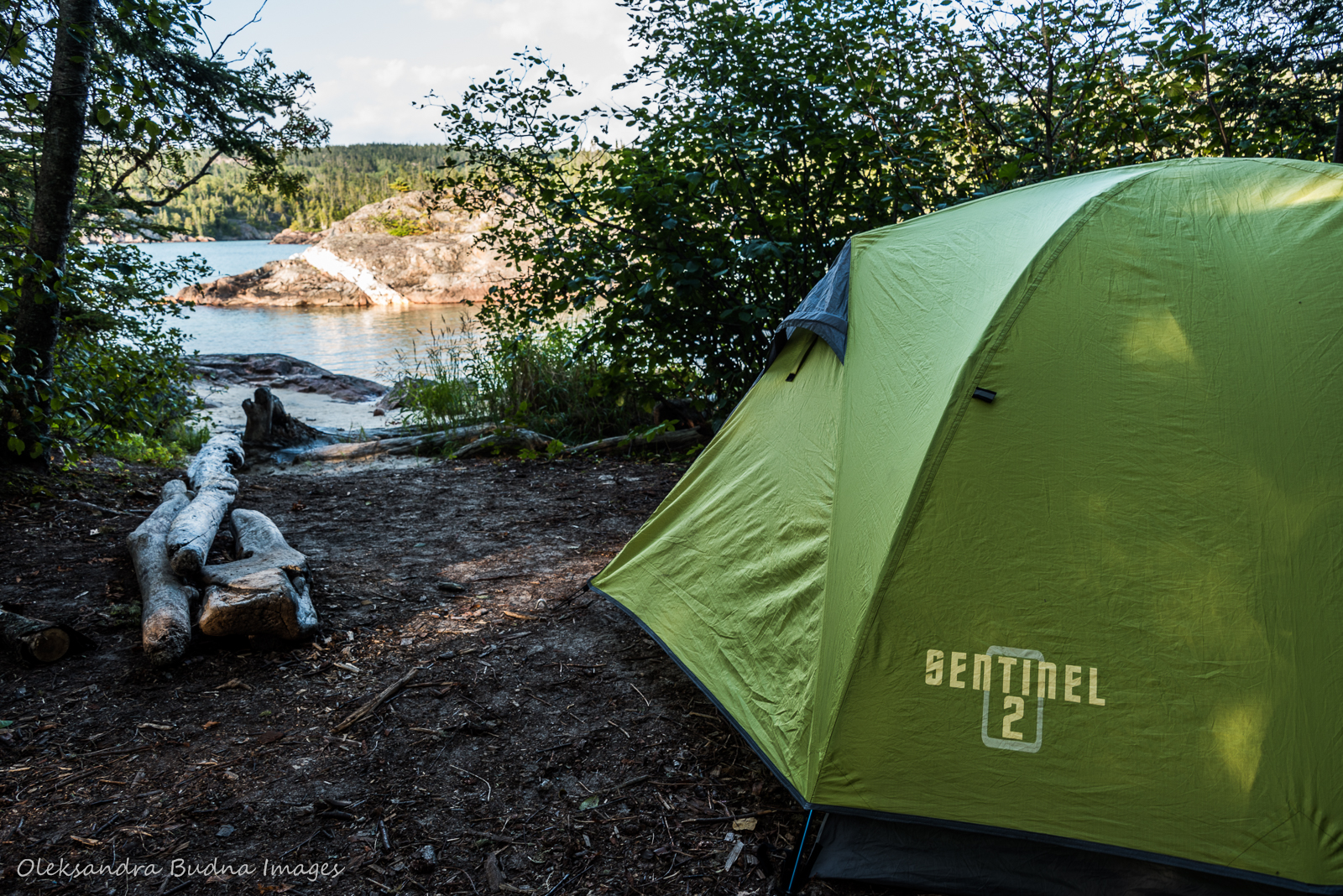 Campsite PRH5 on Mdaabii Miikna trail in Pukaskwa