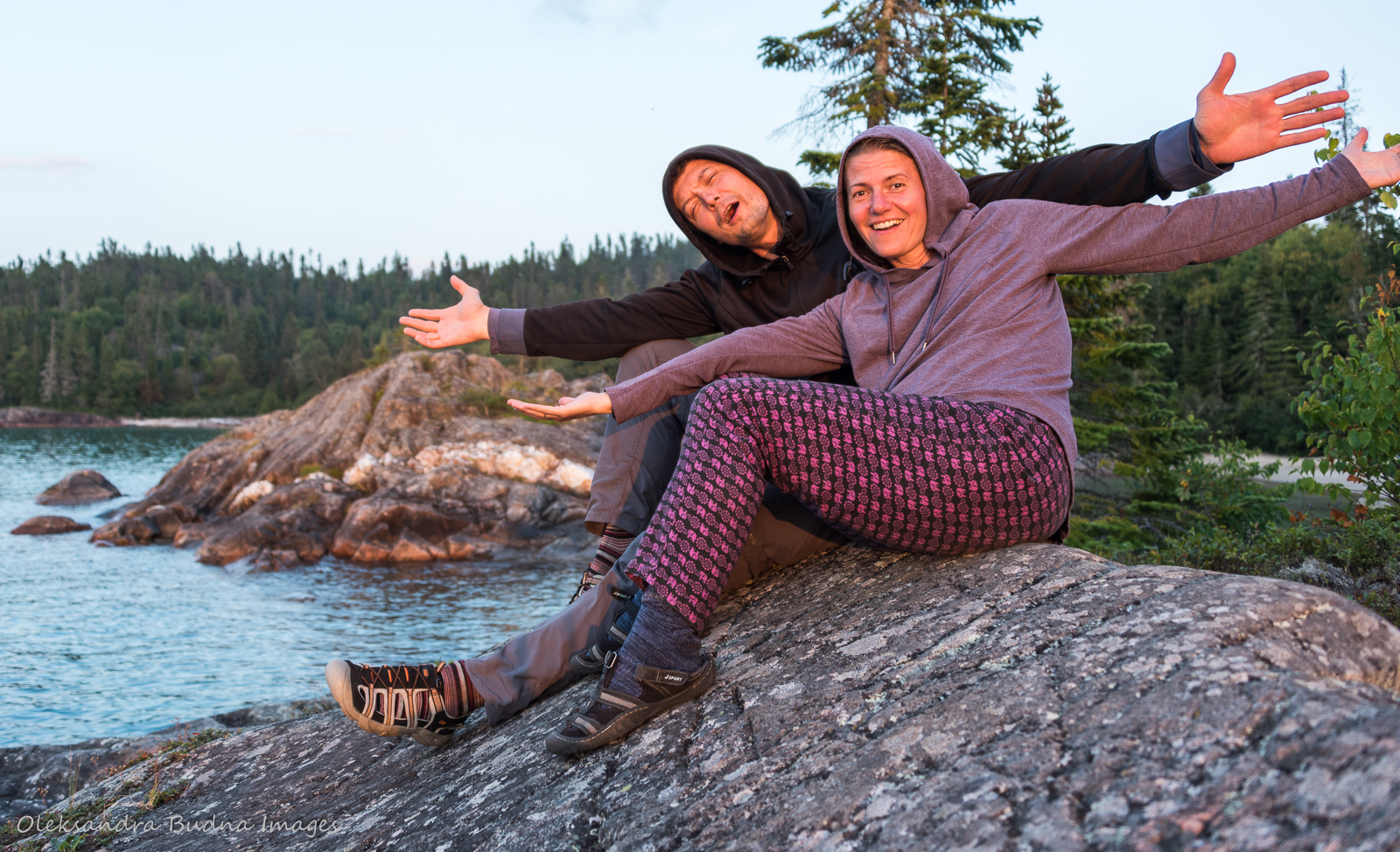 selfie at Picture Rock Harbour south while backpacking the Coastal Hiking Trail in Pukaskwa