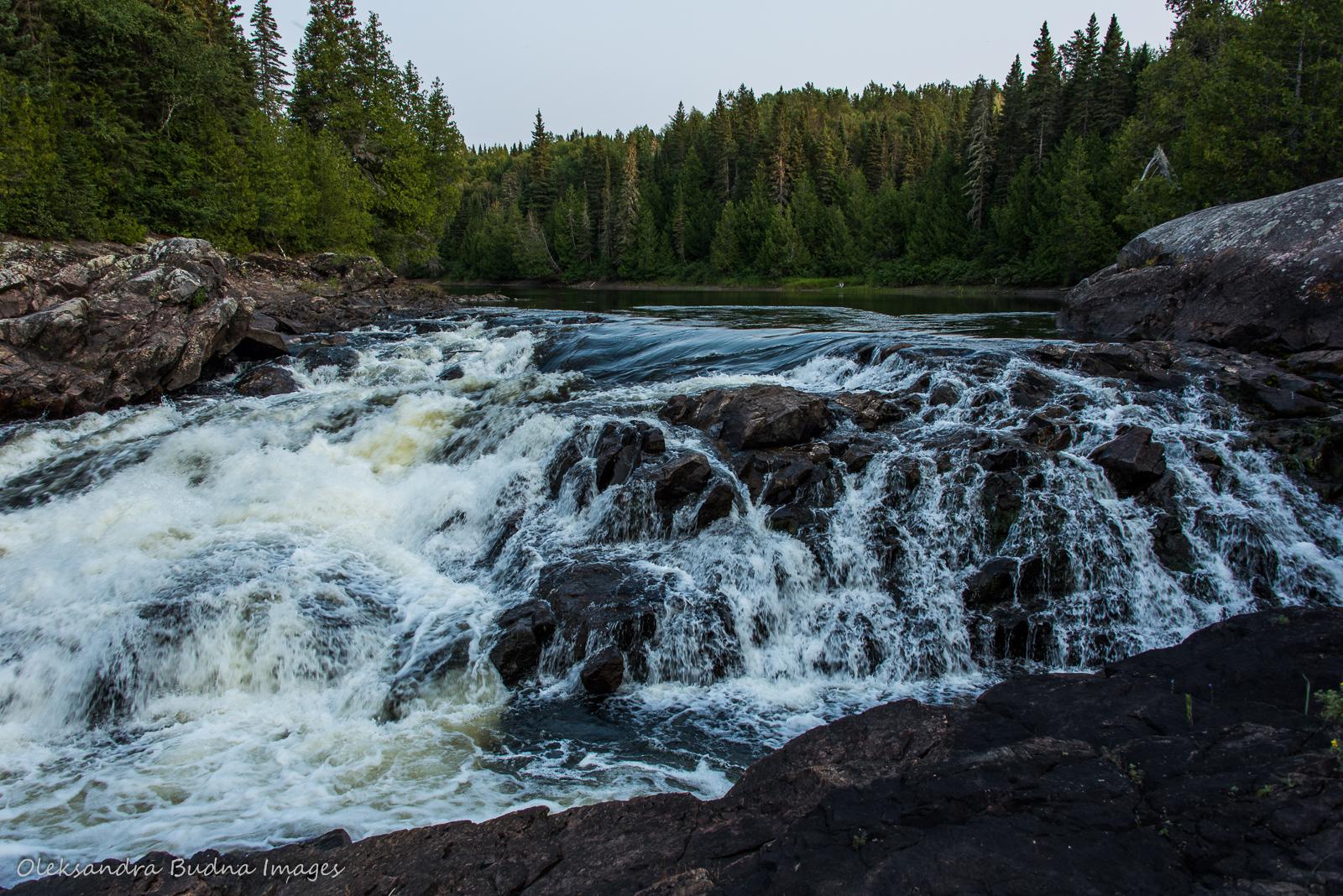 Hook Falls in Pukaskwa