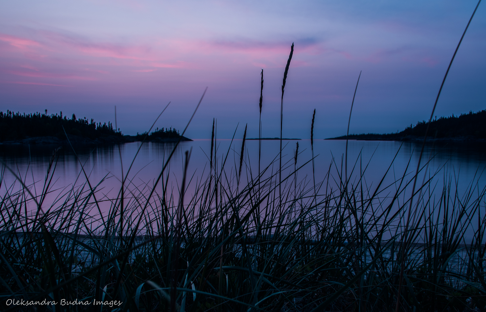 Sunset on Lake Superior at Fish Harbour in Pukaskwa