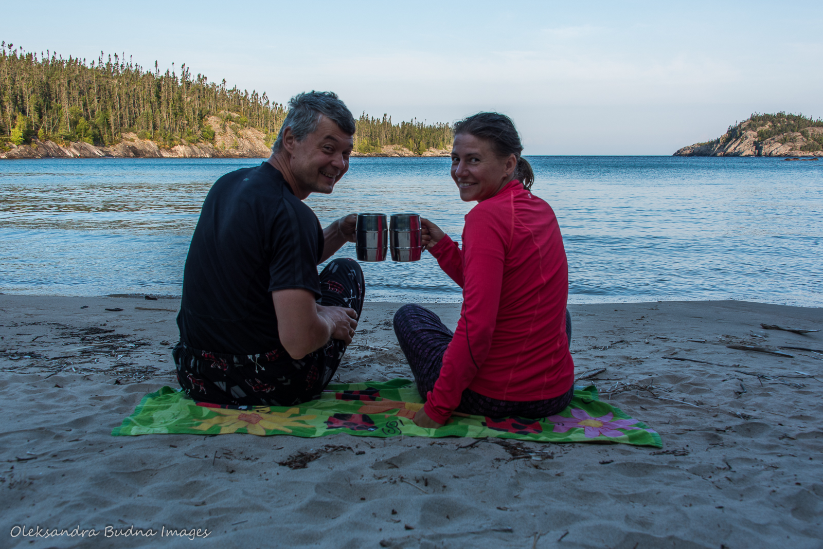 morning coffe at Fisherman's Cove in Pukaskwa