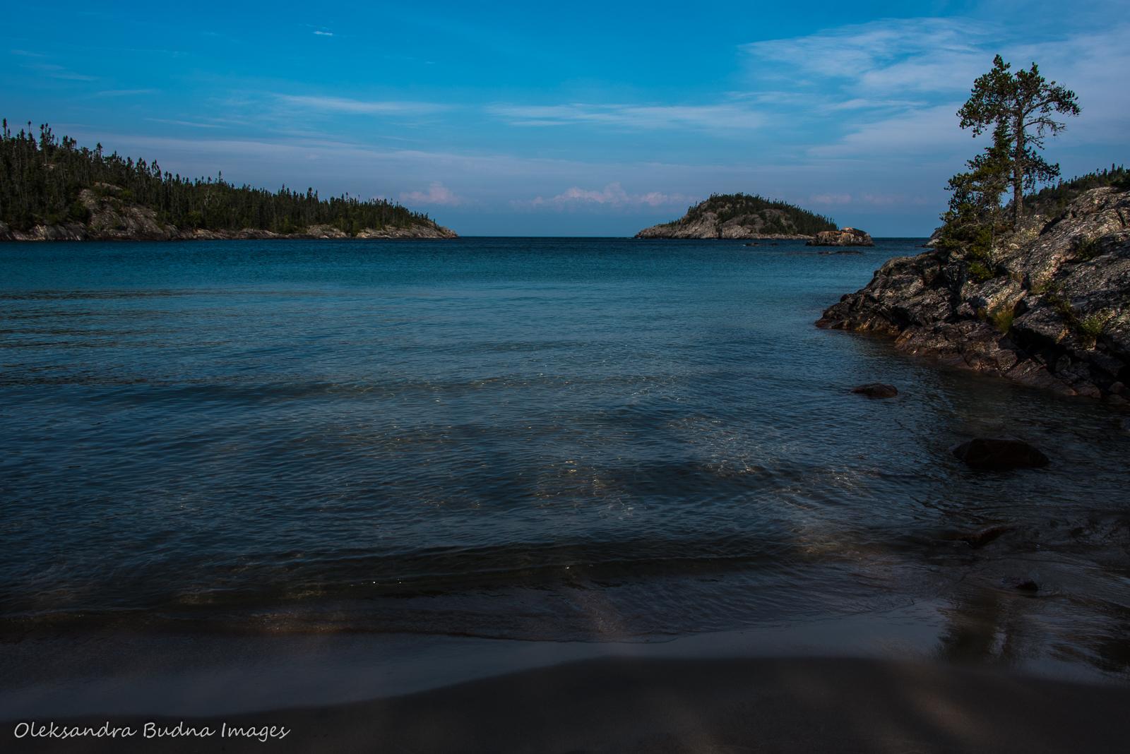 Morning on Lake Superior at Fisherman's Cove in Pukaskwa