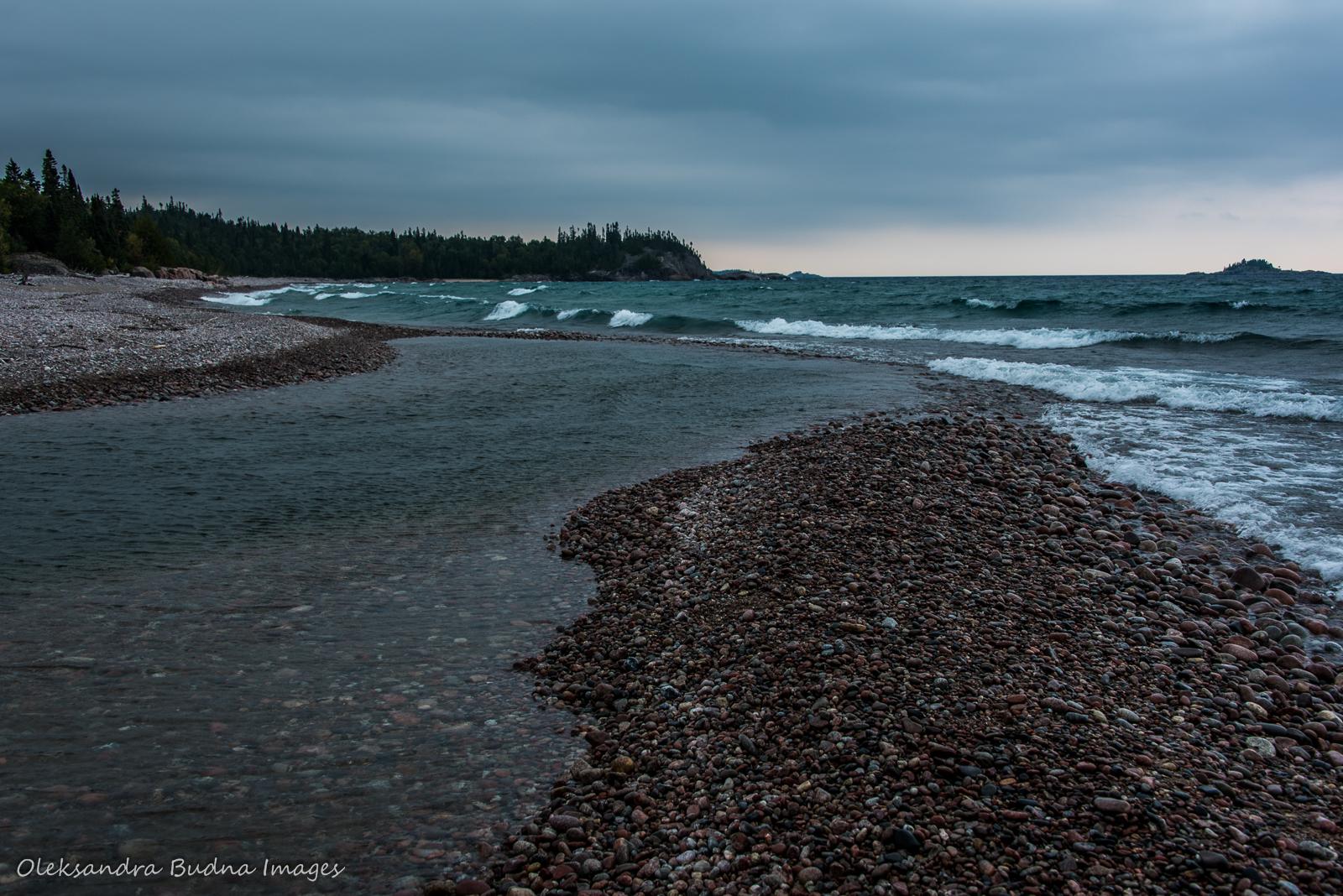 White Gravel River Beach in Pukaskwa