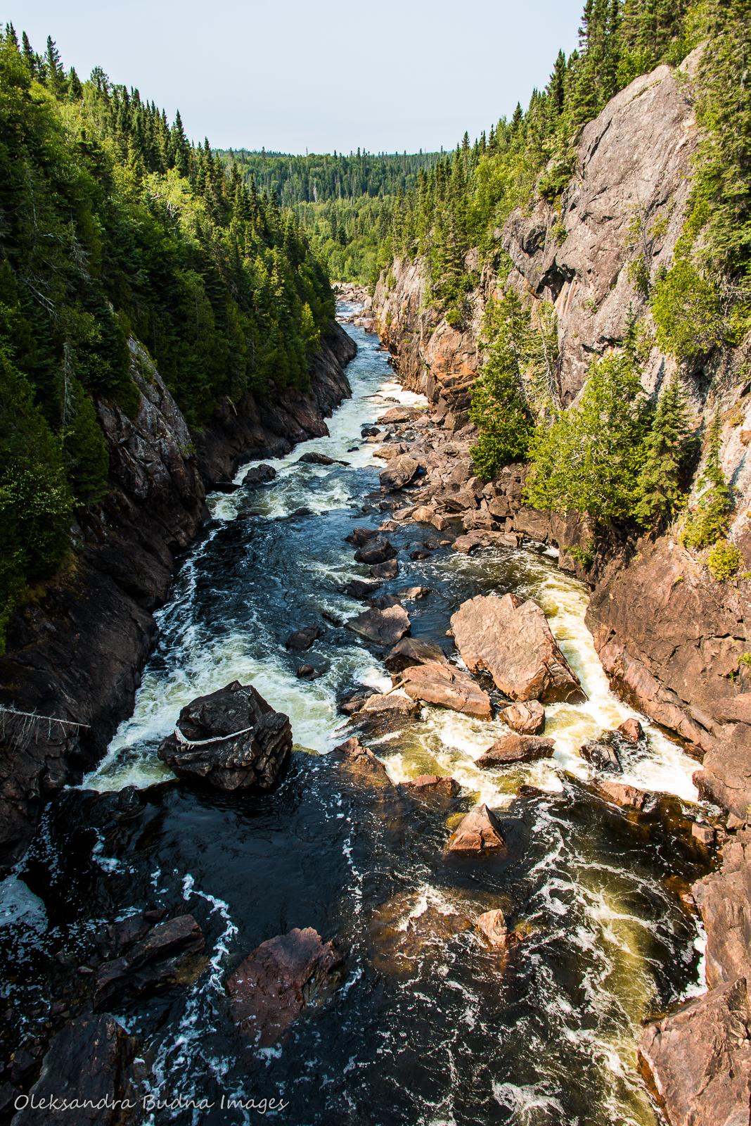 Chigaamiwinigum Falls in Pukaskwa